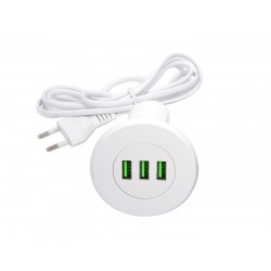 Strong USB nabíjačka, 3x nabíjacie výstupy biela