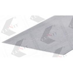 OP100/AL okopovy plech 100mm, hlinik bruseny