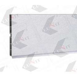 PVC soklovy profil 100 mm, brusene ALU 3m