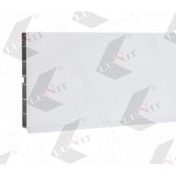 PVC soklovy profil 100 mm, leskla biela 3m