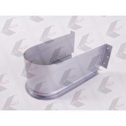 Kryt na sifón do zásuvky 310x84 mm, šedý