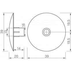 STRONG klzák narážací 464 5 mm čierny