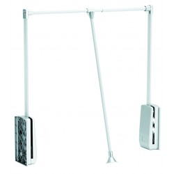 STRONG Tyč šatníková sklopná 890-1240mm biela/chróm
