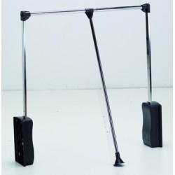 STRONG Tyč šatníková sklopná 890-1240mm čierna/chróm