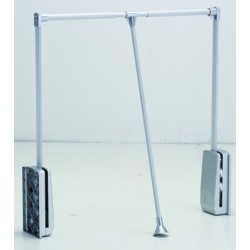 STRONG Tyč šatníková sklopná 890-1240mm strieborná/alu