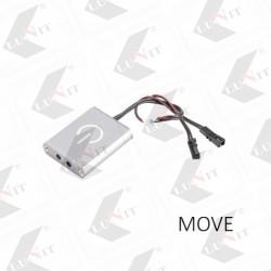 LED spinac MOVE pohybovy 9x31x38 mm, max.36 W, MINI/MINI, chrom matny