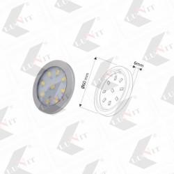 LED ORBIT XL biela studena, fi 60mm, 3W, 280 lm,chrom matny