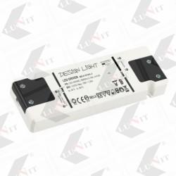 LED Trafo 15 W, 12V DC, IP20, 151x13x44 mm, bez kablov