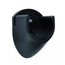 Držiak šatníkovej tyče priemer 25mm čierny plast